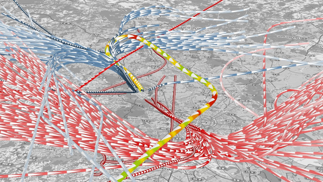 Real Time Animated Visualization Of Massive Air Traffic