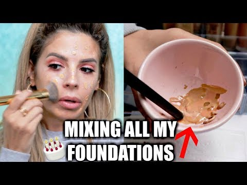 MIXING ALL MY FOUNDATIONS TOGETHER | SHOOK AT THE OUTCOME!
