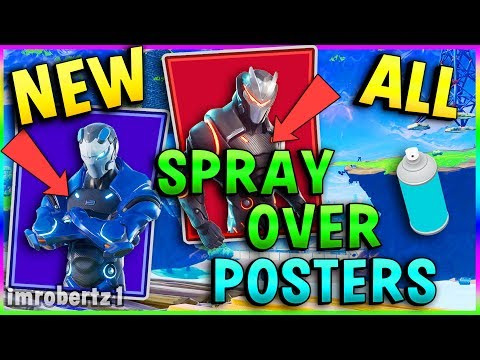 Fortnite Carbide Omega 7 Poster Locations Spray Over Week 6