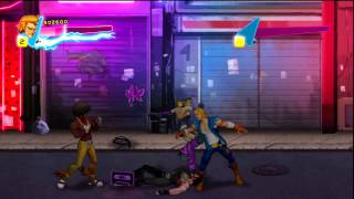 Double Dragon Neon stage 1 walkthrough HD