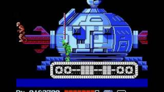 Teenage Mutant Ninja Turtles 1 NES - Technodrome (Fifth Boss Fight) Shredder's Base Level 5