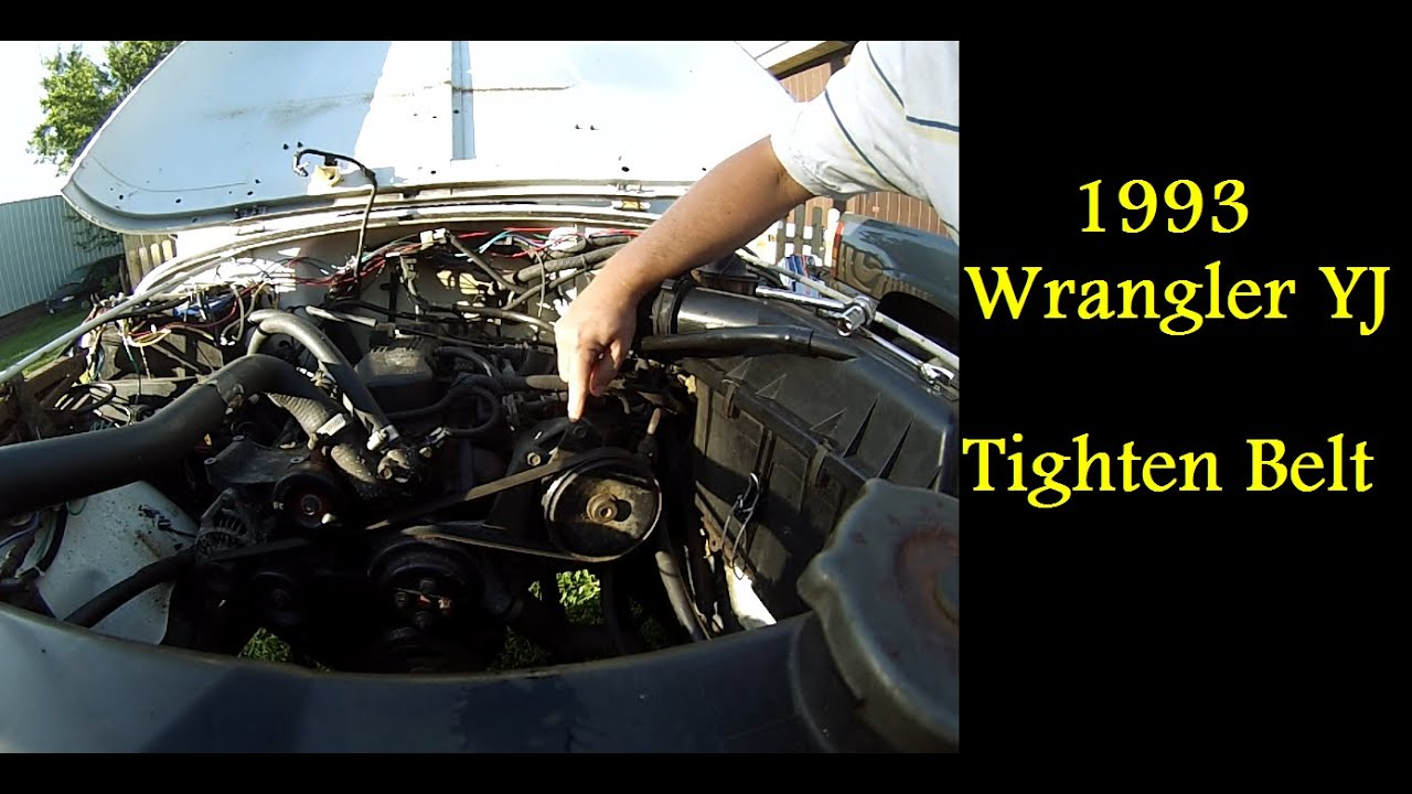 How To Tighten Serpentine Belt 1993 Jeep Wrangler Yj
