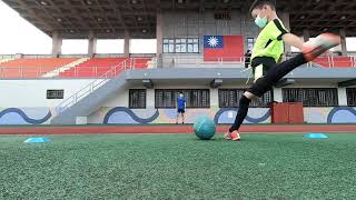 一對一教學紀錄---腳背射門及任意球準度練習(一年級)