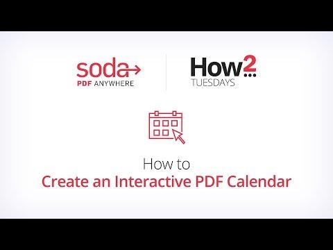 How To Create An Interactive PDF Calendar