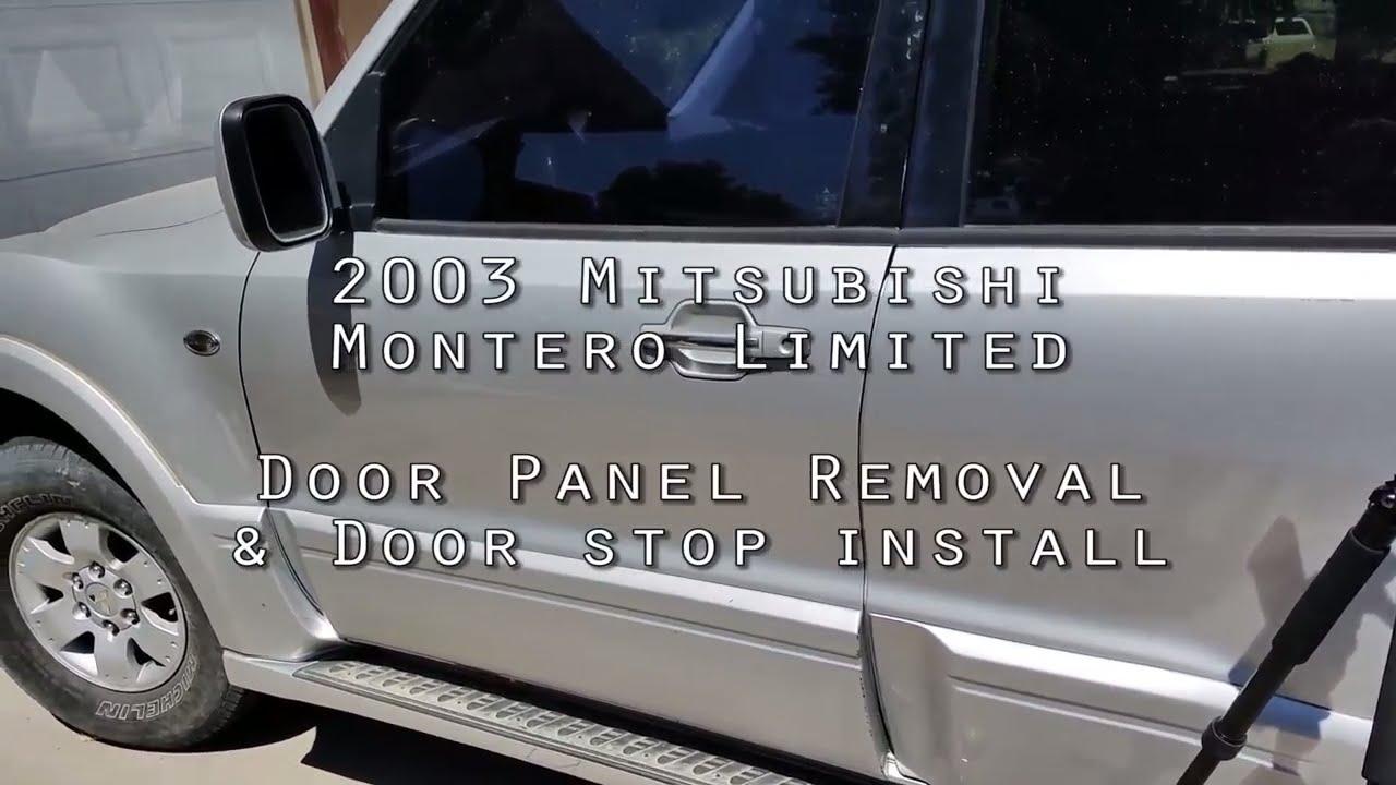 hight resolution of gen iii mitsubishi montero door panel removal door check install 3rd generation