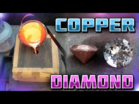 Thumbnail: Making Diamond Shaped Paperweight Out of Copper Start to Finish
