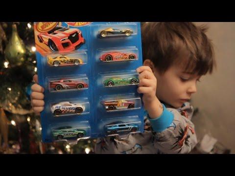 Best Christmas PRESENTS Hotwheels Transformers And SANTA!