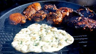 How to make Naan bread recipe (no yeast) | Grilling in the City | Indian food Recipe