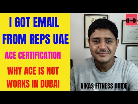 I Got Email From REPS UAE Why Ace Acsm Fitness Certification Does Not Works In Dubai?