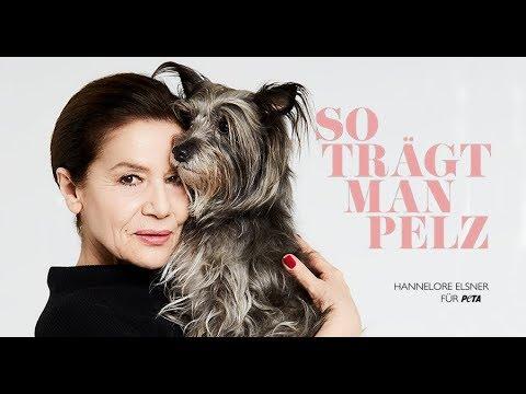 Hannelore Elsner: So trägt man Pelz / PETA