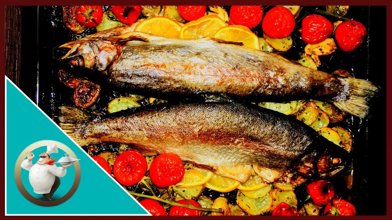 How to cook trout in an oven