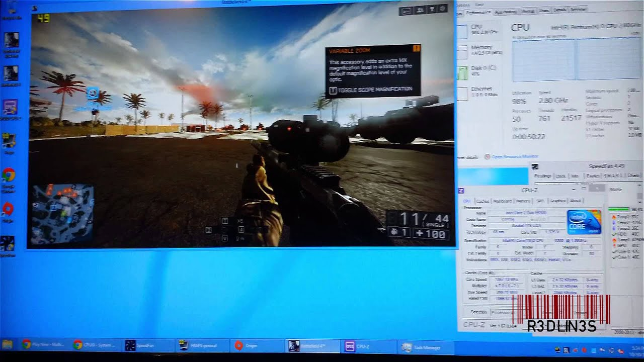 Bf4 Played On Intel Core  8ghz E6300 Asus Ipibl Lb Gaming On Old Hardware Youtube