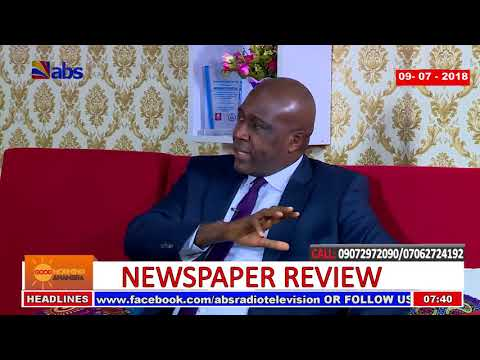 ABS Tv Newspaper Review 09/07/2018
