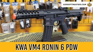 KWA VM4 Ronin 6 PDW Keymod Adjustable FPS Airsoft Gun Quick Review
