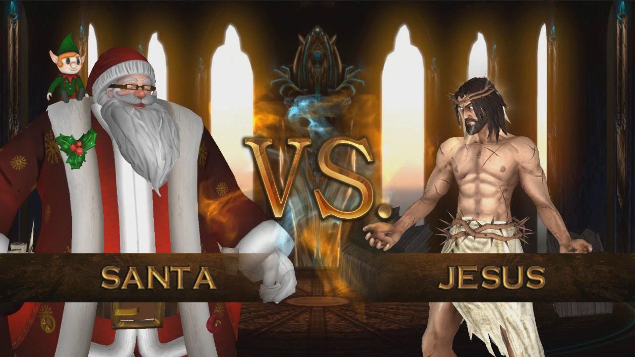 santa vs jesus and moses and odin - Santa With Jesus