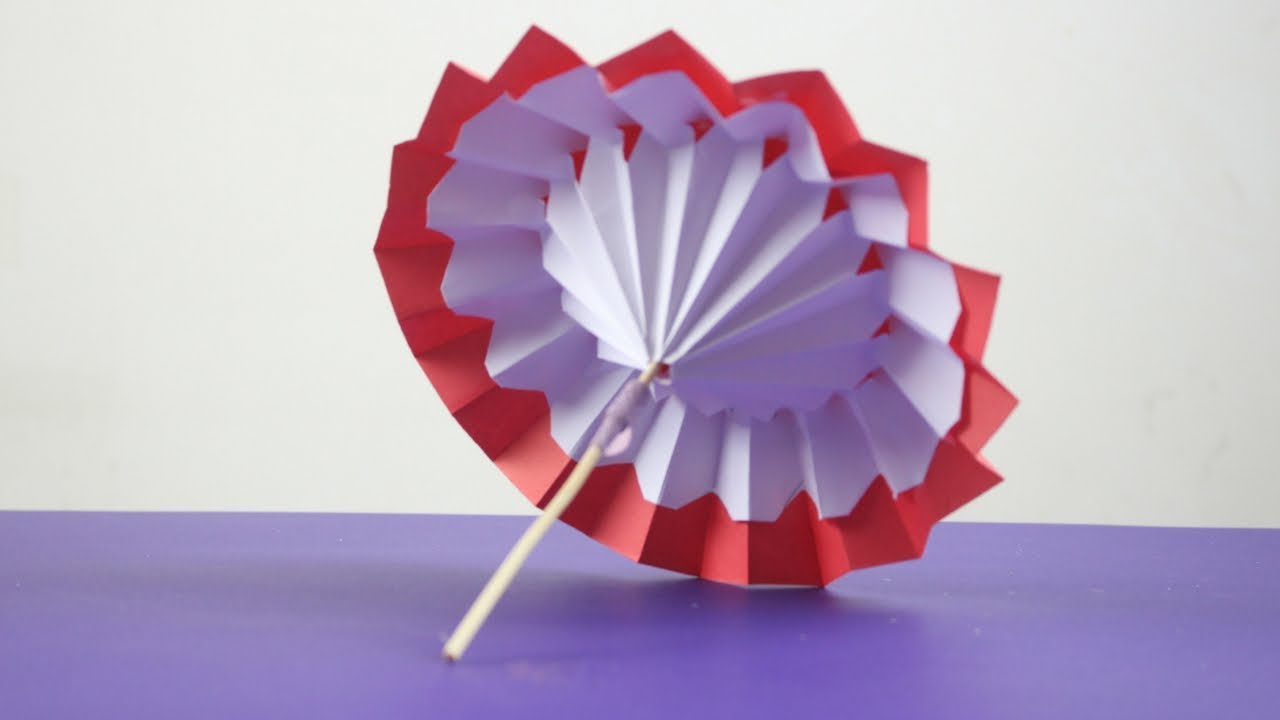 How To Make Paper Umbrella For Drinks Open And Close Diy Kids Room Decor