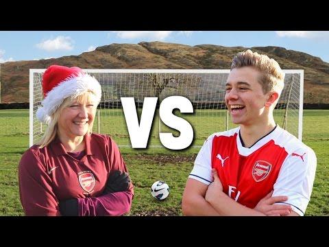 Christmas Football Vs. MY MUM