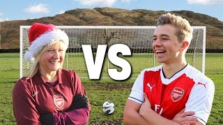 Christmas Football Vs. MY MUM