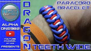 Dragon Teeth Mad Max Style Paracord Bracelet