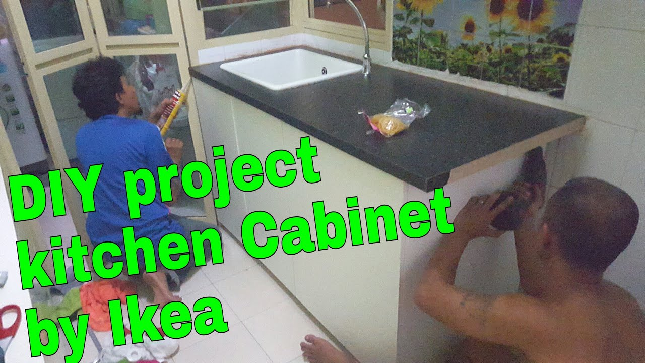 Diy Kitchen Cabinet Ikea 07feb2016 Thezunafamily Vlogs