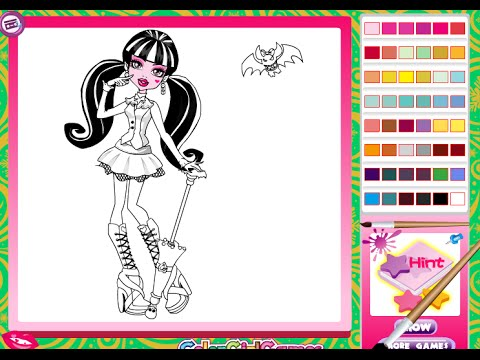 Free Monster High Coloring Pages For Girls - Monster High Coloring Pages