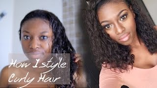 HOW I STYLE AND MAINTAIN MY CURLY HAIR Thumbnail