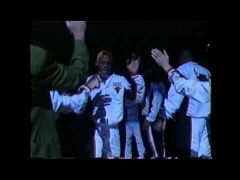 Chicago Bulls Starting Line-up w/ Michael Jordan and Dennis Rodman
