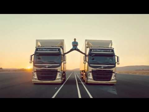 VAN DAMME  Does the MOST EPIC SPLIT EVER !!!!!!! 2013.11.14  Volvo Trucks Commercial HD 720p