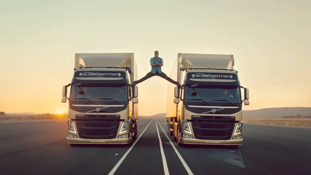 VAN DAMME - Does the MOST EPIC SPLIT EVER !!!!!!! (2013.11.14) | Volvo Trucks Commercial HD 720p ...