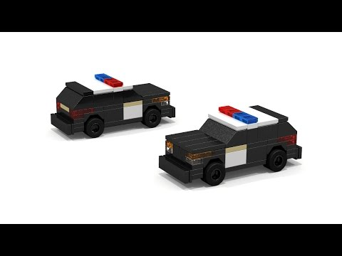 LEGO mini scale Ford Explorer Police Car Instructions