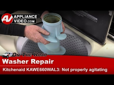 How do you repair a Whirlpool Duet washer that is not agitating?
