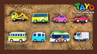 ¡Salva a los autobuses del deslizamiento de tierra! l Tayo escuadrón de vehículos l Juguetes Tayo