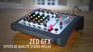 ALLEN & HEATH : Les consoles ZED-6, ZED-6FX et ZEDi-8 (vidéo de la Boite Noire)