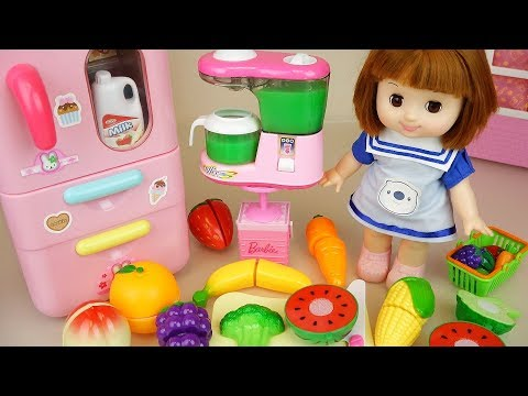 Thumbnail: Baby Doli and fruit juice maker with refrigerator toys baby doll play