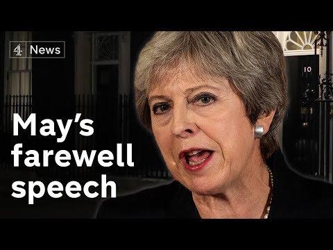 Theresa May's farewell speech