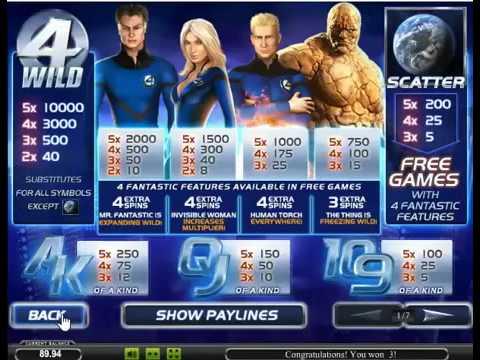Игровой автомат Fantastic Four от Playtech