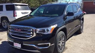 2018 GMC Acadia AWD SLT Power Hatch 6 Passenger Seating Black Oshawa ON Stock #180298