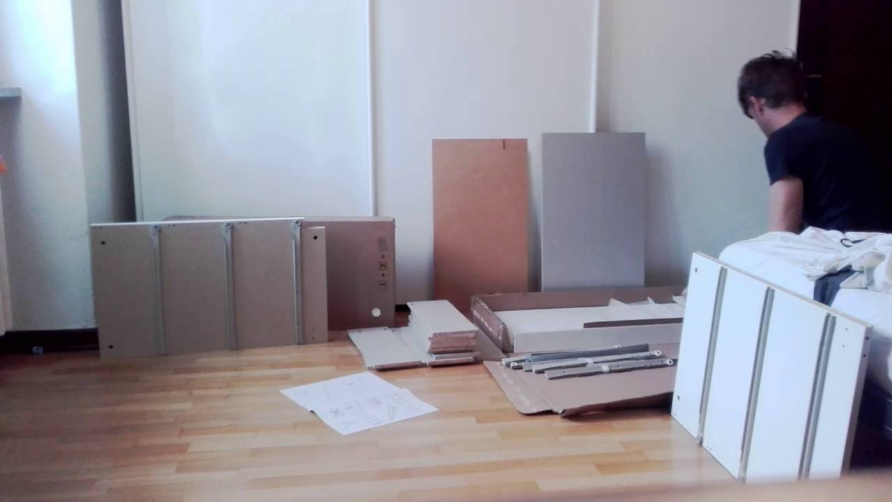 Malm Cassettiera 2 Cassetti.Montaggio Cassettiera Ikea Malm Youtube