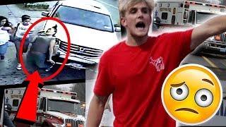 Jake paul runs over Jake Paulers during Hurricane Harvey *ON CAMERA* (fan gets Rushed to Hospital)
