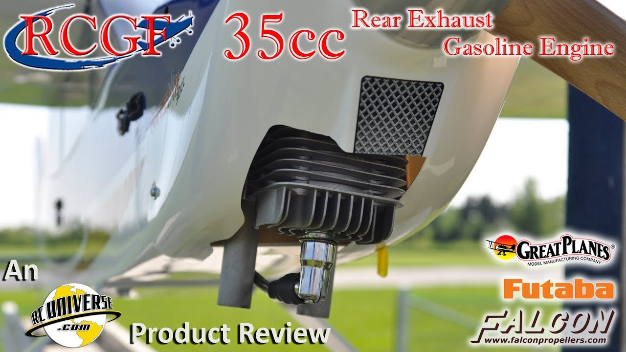 RCGF 35cc Rear Exhaust Gasoline Engine RCUniverse Product Review Video