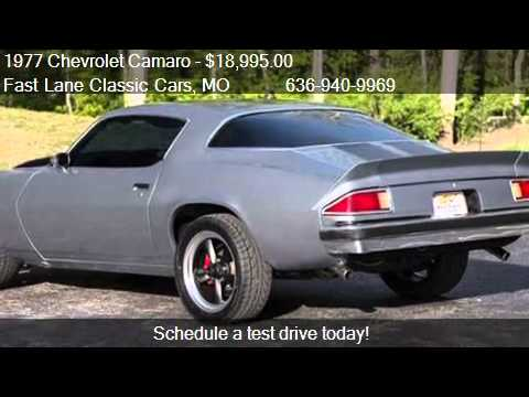 1977 Chevrolet Camaro for sale in St Charles MO 63301 at  YouTube