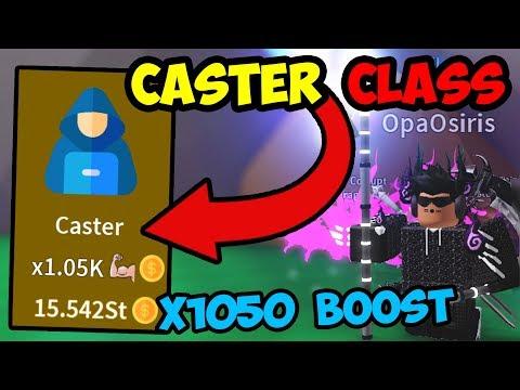 UNLOCKING OP *CASTER* CLASS!! X1050 BOOST!!! | - Roblox Saber Simulator