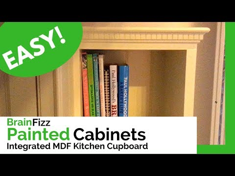 Making a simple painted fitted kitchen shelving unit for a client. Tips for building Carcasses.