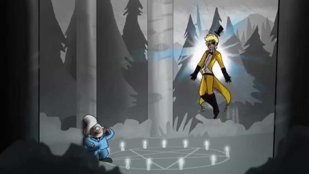 Reverse Falls Wallpaper Bill Cipher The Human Version Animated Youtube