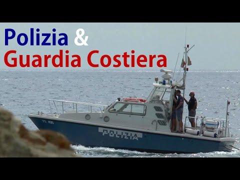 Polizia & Guardia Costiera, Italia - Italy - Italien Coast Guard & Police boat - Küstenwache