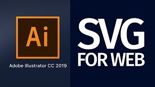 How to Export SVG for the web with Illustrator CC 2019 | ready for Dreamweaver, Muse, and other