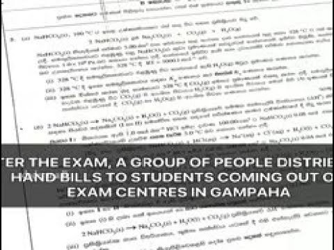 GCE A/Level Chemistry paper leaked? (English)
