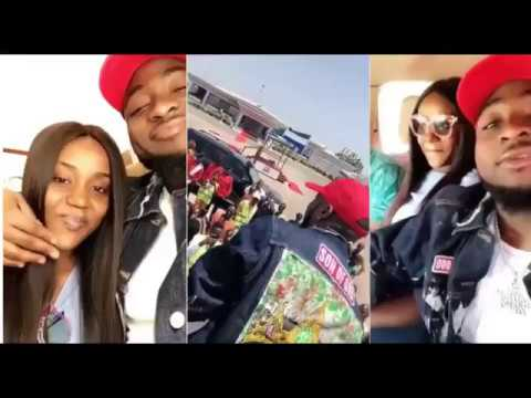 Davido & Chioma Arrives At Sierra Leone Airport In A Grand Style