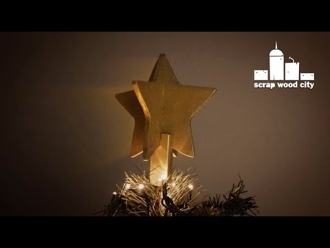 diy wooden christmas tree star