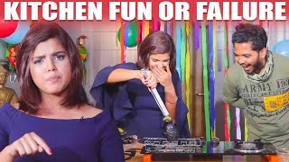 Check Out What Pooja is doing with Brinjal | Kitchen Fun OR Failure